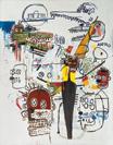Jean-Michel Basquiat, 6 Months, 1987, Acryl und Ölkreide auf Leinwand, 247 x 178 cm