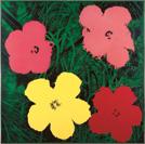 Andy Warhol, Flowers, 1964, synthetisches Polymer,  Siebdruck auf Leinwand, 208 x 208 cm