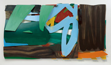 Tom Wesselmann, The Lake, 1994, Öl auf Aluminium, 239 x 439 x 32