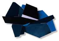 Henrik Eiben, Voyager, 2013, Leder,  Stoff,  Styrodur,  Holz, 138 x 210 x 20 cm