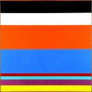 Camille Graeser, Komplementär-Relation I, 1965, Öl auf Leinwand, 90 x 90 cm