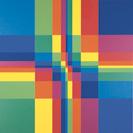 Paul Richard Lohse, Neun horizontale und neun vertikale Farbreihen, 1950/1985, Öl auf Leinwand, 120 x 120 cm