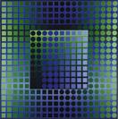 Victor Vasarely, Zoeld-KZ, 1967-1973, Acryl auf Leinwand, 200 x 200 cm