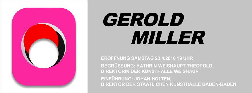 News Eröffnung Ausstellung Gerold Miller