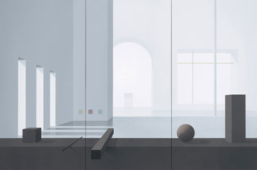 Ben Willikens, Raum 354, 2003, Acryl auf Leinwand, 200 x 300 cm