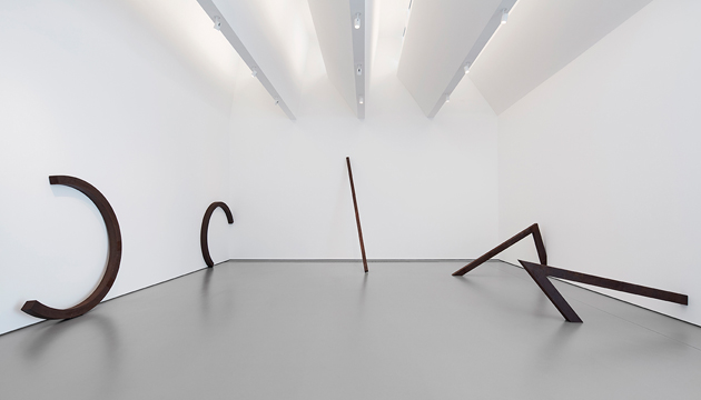 Installation view with artwork by Bernar Venet in <i>Open Outcome - New Works from the Collection</i>
